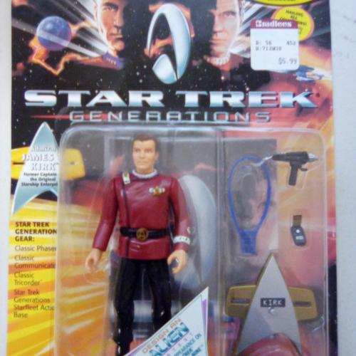 Star trek generations action figure James T. Kirk 1994 NOS